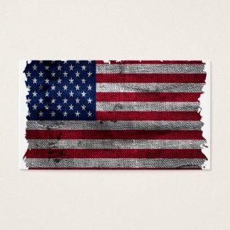 険しい米国の旗 名刺