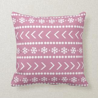 険しい雪の枕-ピンク クッション