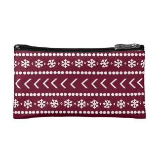 険しい雪の構造の袋-赤 コスメティックバッグ