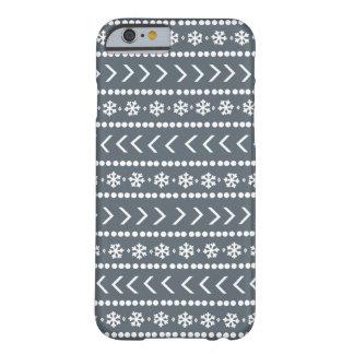 険しい雪の電話箱-灰色 BARELY THERE iPhone 6 ケース