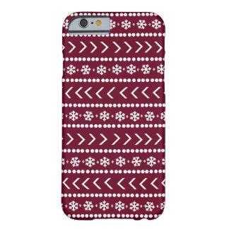 険しい雪の電話箱-赤 BARELY THERE iPhone 6 ケース