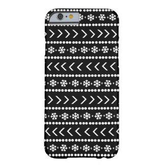 険しい雪の電話箱-黒 BARELY THERE iPhone 6 ケース