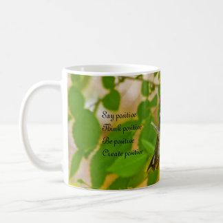 陽性が陽性をである前向き作成する考えることを言って下さい コーヒーマグカップ