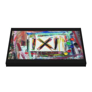 陽性の抽象芸術 キャンバスプリント