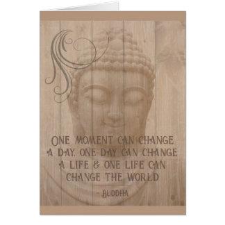 陽性は毎日の断言の仏教のことわざを考えました カード