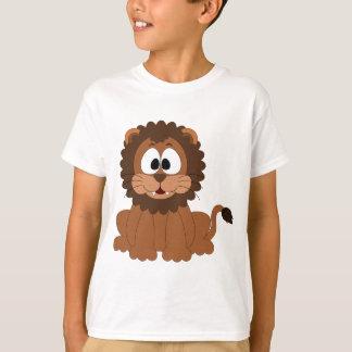 陽気でかわいいブラウンの漫画のライオン Tシャツ