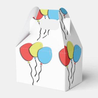 陽気でカラフルな誕生日の気球 フェイバーボックス