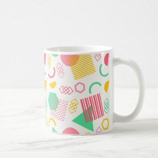 陽気で幾何学的なパターン コーヒーマグカップ