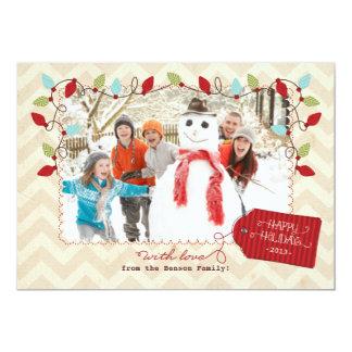 陽気で明るい休日は写真の挨拶状をつけます カード
