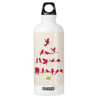 陽気で赤い鳥の十分のクリスマスツリー ウォーターボトル