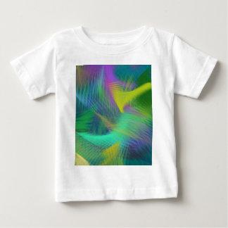陽気なおもしろい色の抽象芸術 ベビーTシャツ