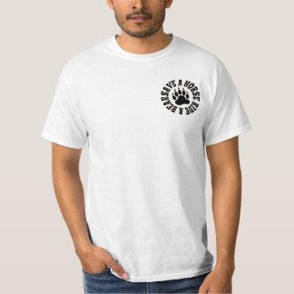 陽気なくまのプライドの保存馬の乗車くま-ワイシャツ Tシャツ