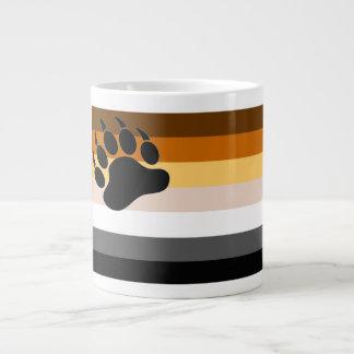 陽気なくまのプライドの旗のツキノワグマの足-マグ ジャンボコーヒーマグカップ