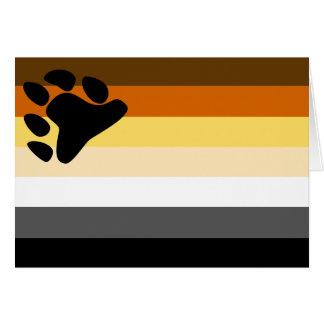 陽気なくまのプライドの旗- LGBTは虹に耐えます カード