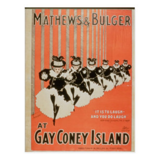 陽気なコニーアイランドの「Mathews及びBulger」のためのポスター ポストカード