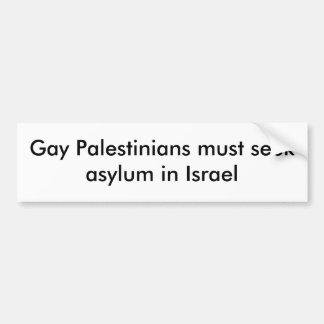 陽気なパレスチナ人はイスラエル共和国の保護所を追求しなければなりません バンパーステッカー