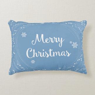 陽気なメリークリスマスの雪は青い白を主演します アクセントクッション