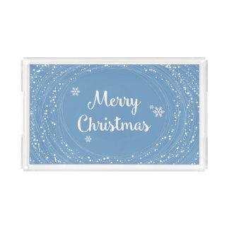 陽気なメリークリスマスの雪は青い白を主演します アクリルトレー