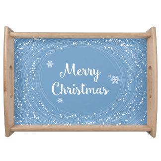 陽気なメリークリスマスの雪は青い白を主演します トレー