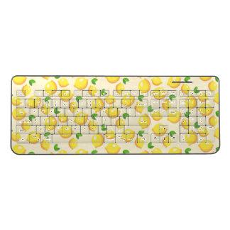 陽気なレモンパターン ワイヤレスキーボード