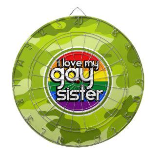 陽気な姉妹; 若草色の迷彩柄、カムフラージュ ダーツボード