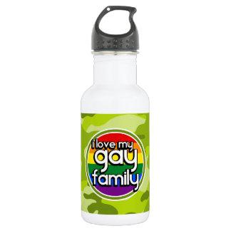陽気な家族; 若草色の迷彩柄、カムフラージュ ウォーターボトル