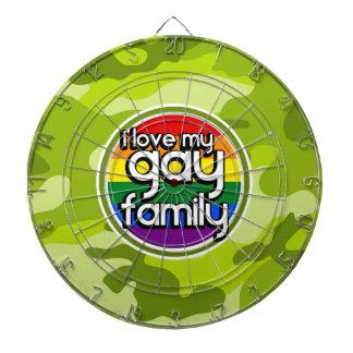 陽気な家族; 若草色の迷彩柄、カムフラージュ ダーツボード