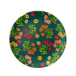 """陽気な庭によっては8.5""""が磁器皿開花します 磁器プレート"""
