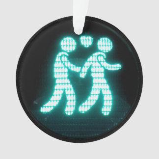 陽気な歩行者の信号 オーナメント