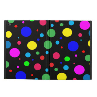 陽気な色の水玉模様のPowisのiPadの空気2箱 Powis iPad Air 2 ケース