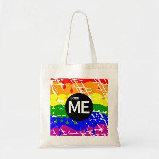 陽気な虹の旗はこうすればを生まれます トートバッグ
