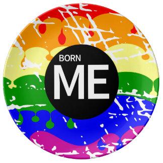 陽気な虹の旗はこうすればを生まれます 磁器プレート