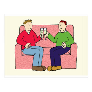 陽気な記念日のお祝い、2人の焼くこと ポストカード