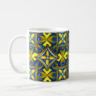 陽気な陶器パターンマグ コーヒーマグカップ