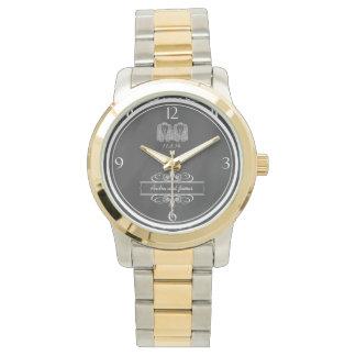陽気な黒板の倍のタキシードの結婚式の腕時計 腕時計