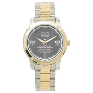陽気な黒板の結婚式の記念品の腕時計 腕時計