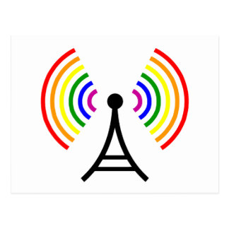 陽気なWifiの虹信号のアンテナ ポストカード