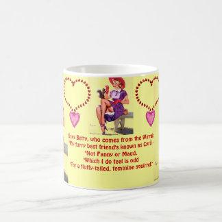 陽気にチェシャー彼女の野生のペットを大事にする賭 コーヒーマグカップ