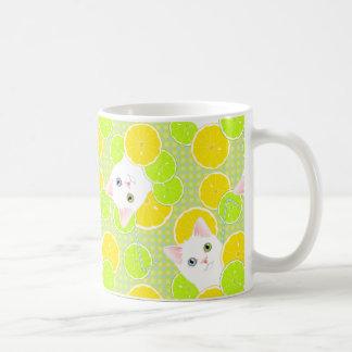 、陽気明るい、甘美なレモネードの子猫猫かわいい! コーヒーマグカップ