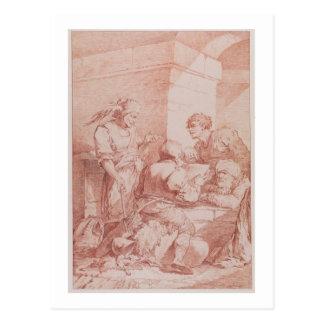 隊de Garde (本によって敗北する野蛮人) (に関して ポストカード