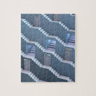 階段およびドアのパズル タワー ジグソーパズル