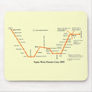 隔壁の西のチェスターライン地図1979年 マウスパッド