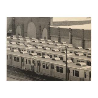 隔壁の運輸M-3市場のFrankfordライン車 ウッドウォールアート