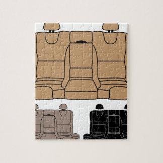 隔離される後部席のベクトル ジグソーパズル