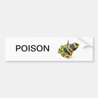 隔離される黄色い毒投げ矢の矢のカエル バンパーステッカー
