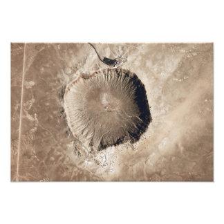 隕石の影響の噴火口 フォトプリント