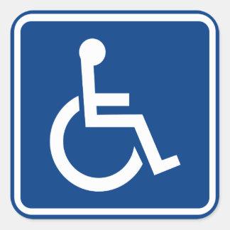 障害がある車椅子の入手しやすい印 スクエアシール