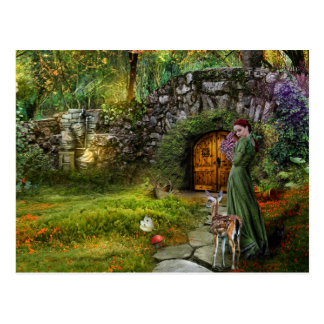 隠された庭の郵便はがき ポストカード