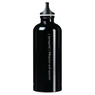 """隠された断言""""私は豊富な""""ボトルです--黒 ウォーターボトル"""