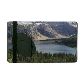 隠された湖はグレーシャー国立公園モンタナを見落とします iPad ケース